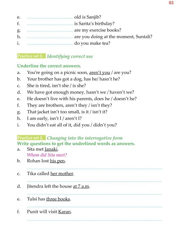 Grammar » 5th Grade Grammar Questions Question Words Question