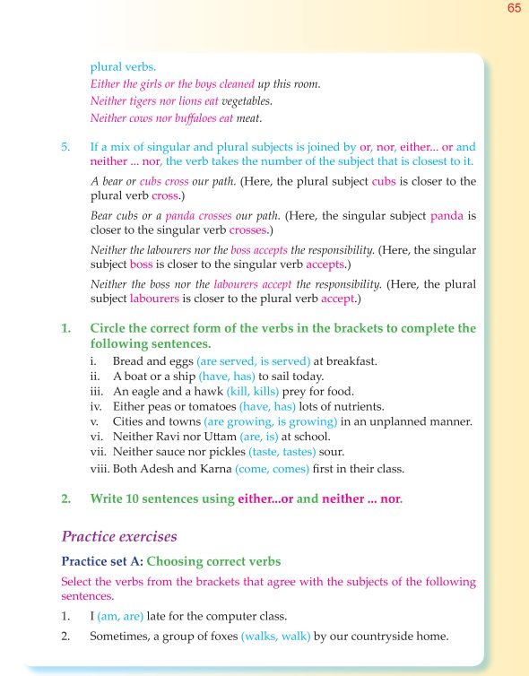 Subject Verb Agreement Either Images Agreement Letter Format