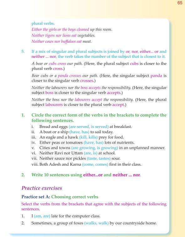 Good Grammar 6th Grade Grammar Subject Verb Agreement